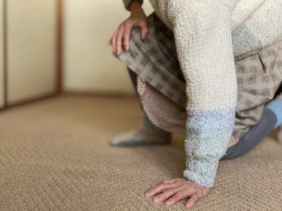 腰が痛く足もふらつき不安定で、転ぶことが多くなったと来院